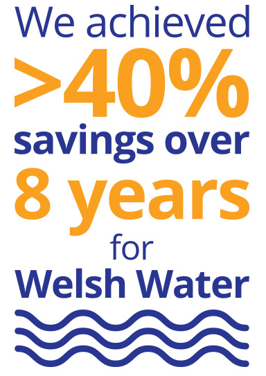 50% savings for Welsh Water